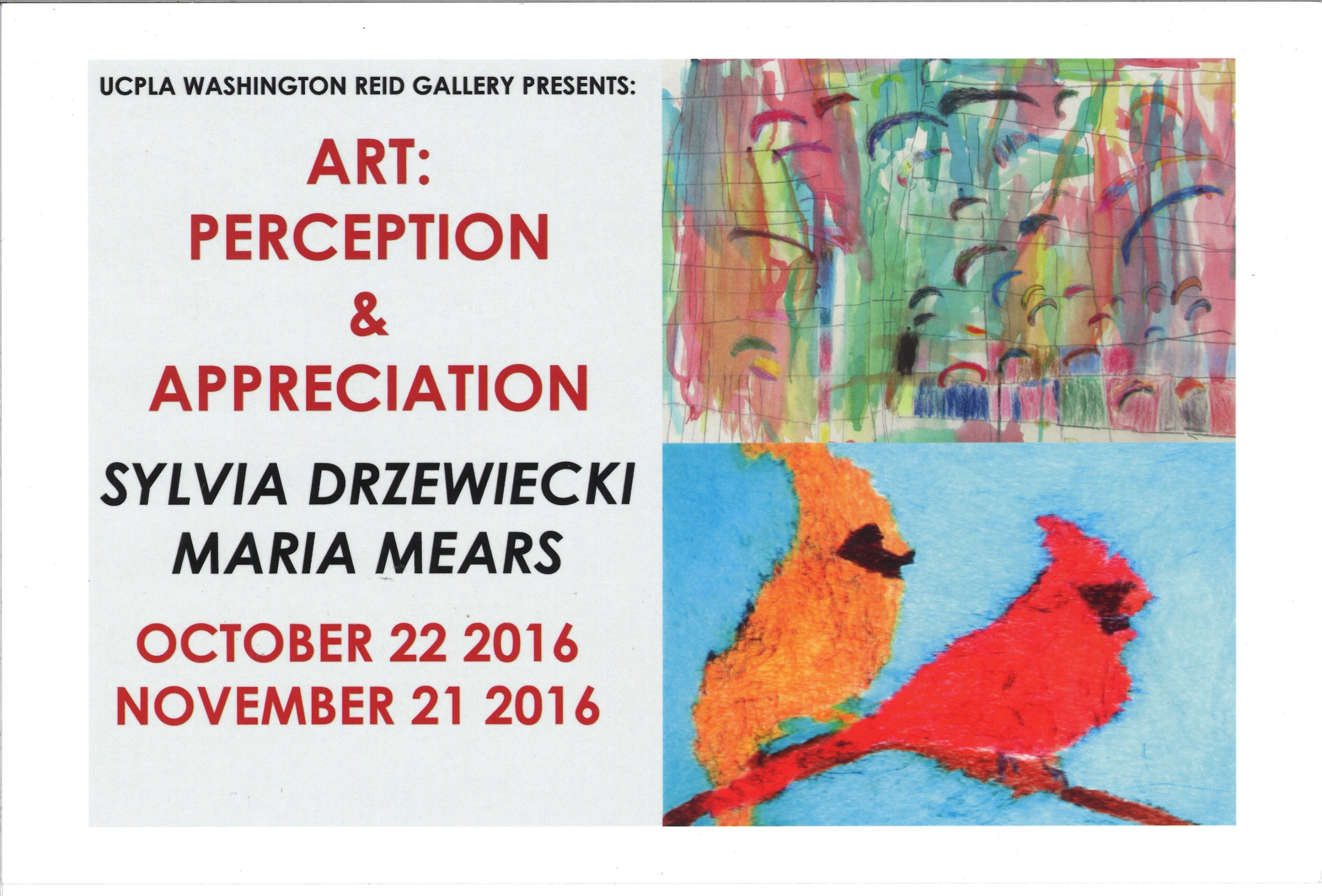 Art: Perception & Appreciation: Sylvia Drzewiecki & Maria Mears