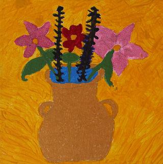 Flower In Yellow Vase