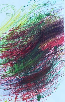 Craig Mayer ''Untitled'' Colored sharpie
