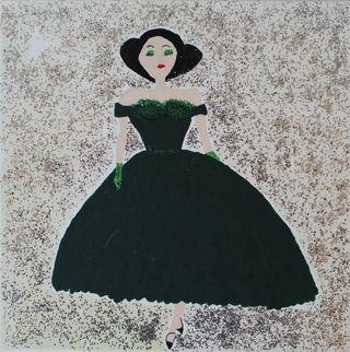 Woman In A Dark Green Dress