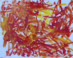 Carly Ramos '' Untitled'' Acrylic paint