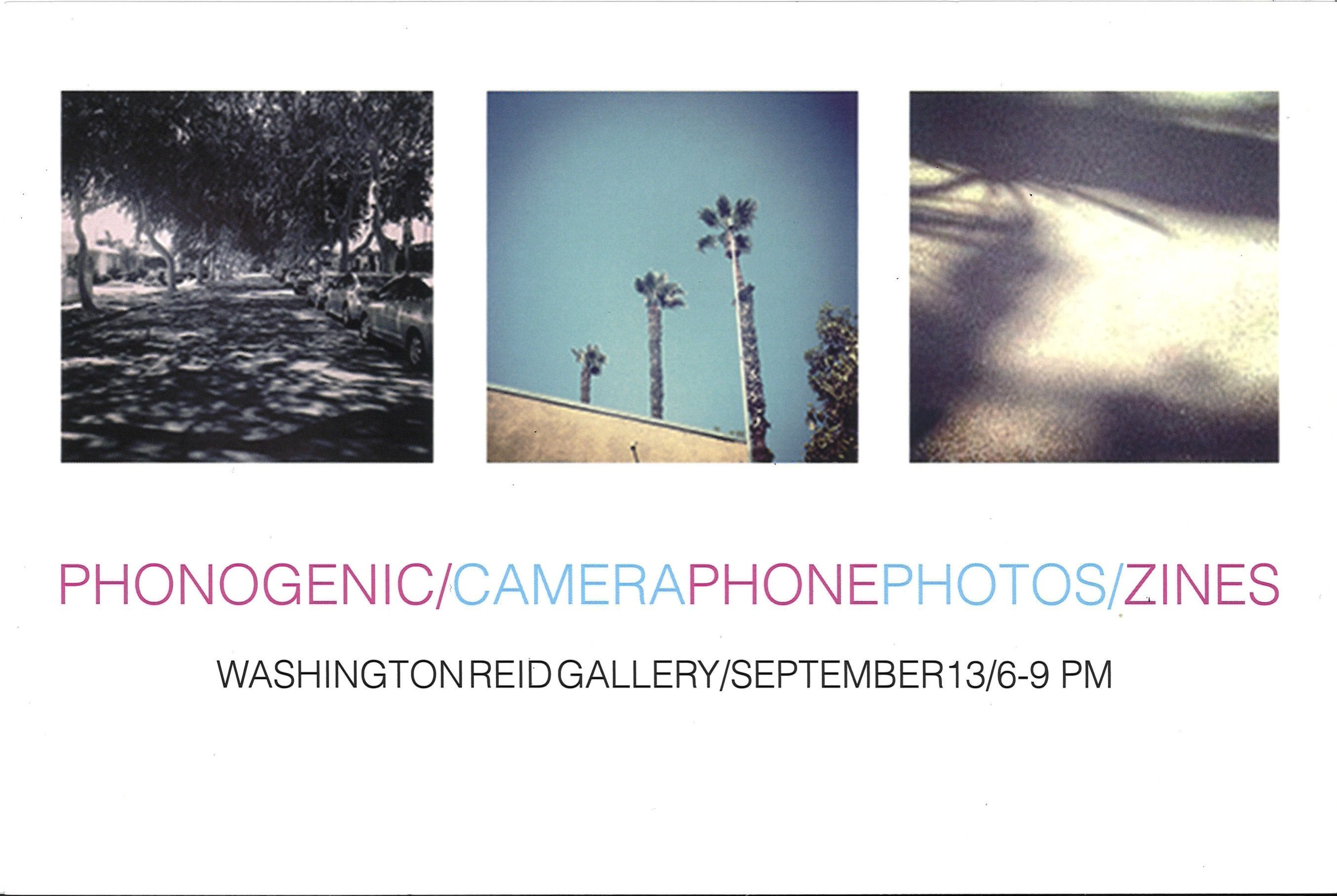 Phonogenic/CameraPhonePhotos/Zines