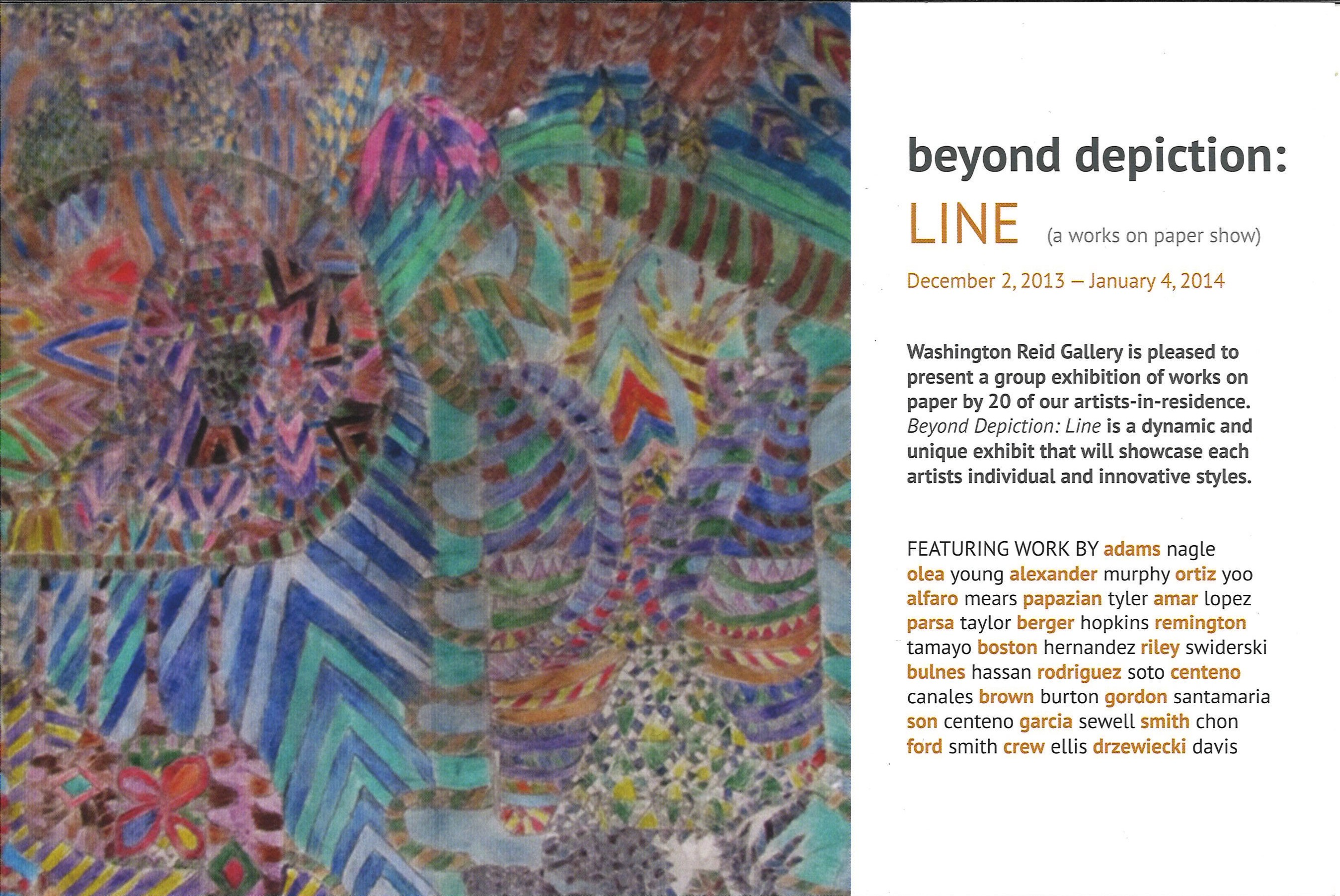 Beyond Depiction: Line (A Works on Paper Show)