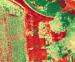 NDVI Agrarbilder Landwirtschaft Drohne NRW Dortmund