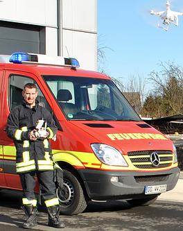 Feuerwehr Dortmund Drohne Einsatz Such und Rettungsflüge Wärmebild