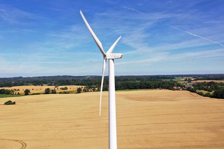 Windkraftanlage Inspektion Drohne Dortmund Deutschland Blattinspektion