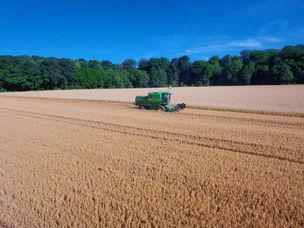 Drohne Landwirtschaft Luftbild Ernte Dortmund
