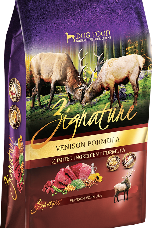 Zignature Venison Formula Dog Food