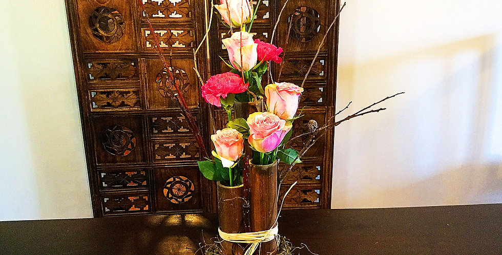 Bamboo and Roses
