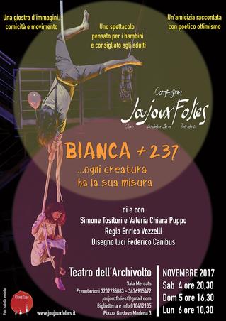 4-5-6 Novembre Bianca e 237 in scena a Genova