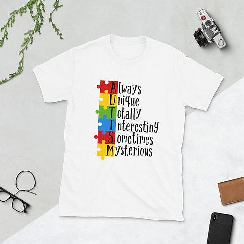 Always Unique Autism Love - Short-Sleeve Unisex T-Shirt