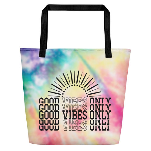 Good Vibes Only - Tie Dye Beach Bag