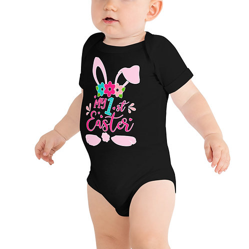 My First Easter Floral - Baby short sleeve one piece