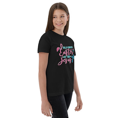 Silly Rabbit Easter is for Jesus - Youth jersey t-shirt
