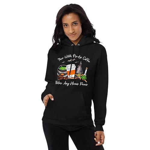 Witch Needs Coffee - Unisex fleece hoodie