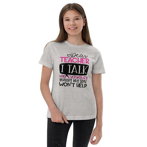 Dear Teacher - Youth jersey t-shirt