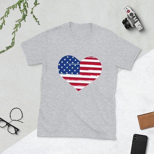 Flag Heart - Short-Sleeve Unisex T-Shirt