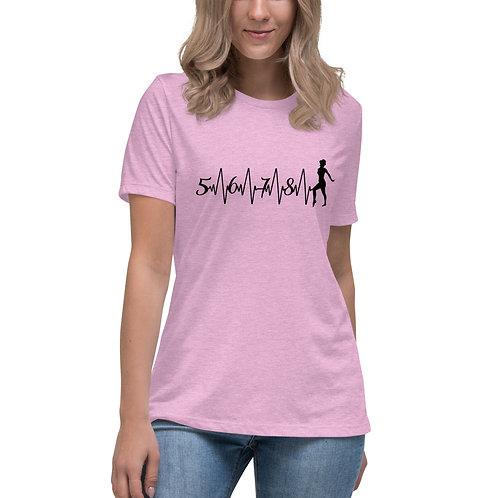 5 6 7 8 Dance Beat - Women's Relaxed T-Shirt