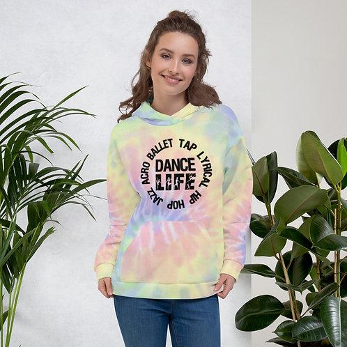 Dance Life Circle Tie Dye - Unisex Hoodie