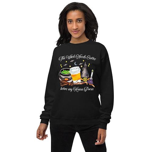 This Witch Needs Coffee - Unisex fleece sweatshirt