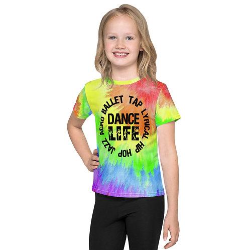 Dance Circle Tie Dye Kids T-Shirt