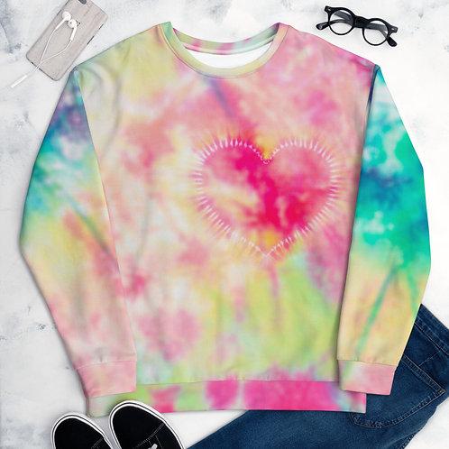 Heart Tie Dye - Unisex Sweatshirt