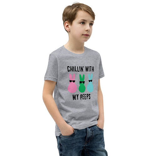 Chillin with My Peeps - Easter - Youth Short Sleeve T-Shirt