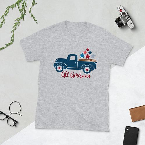 All American Trucker - Short-Sleeve Unisex T-Shirt
