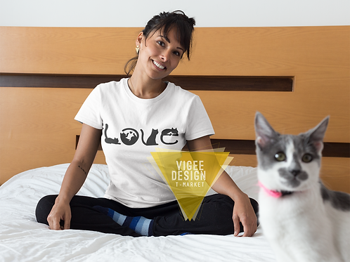 Cat LOVE - Short-Sleeve Unisex T-Shirt