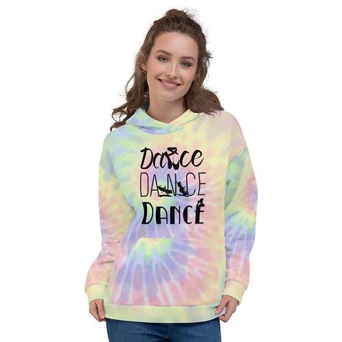 Dance Dance Dance Tie Dye Unisex Hoodie