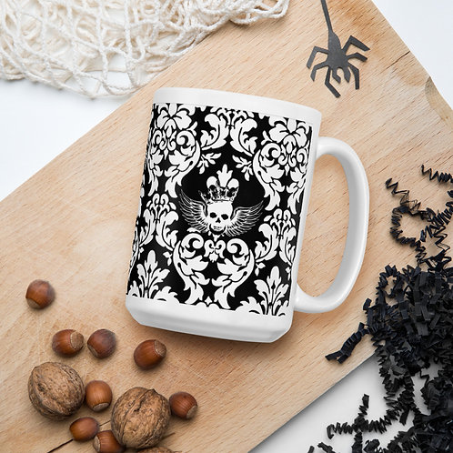 Angel King - White glossy mug