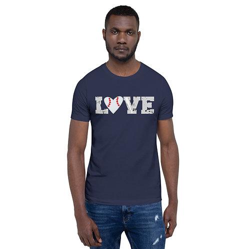 Baseball LOVE - Short-Sleeve Unisex T-Shirt