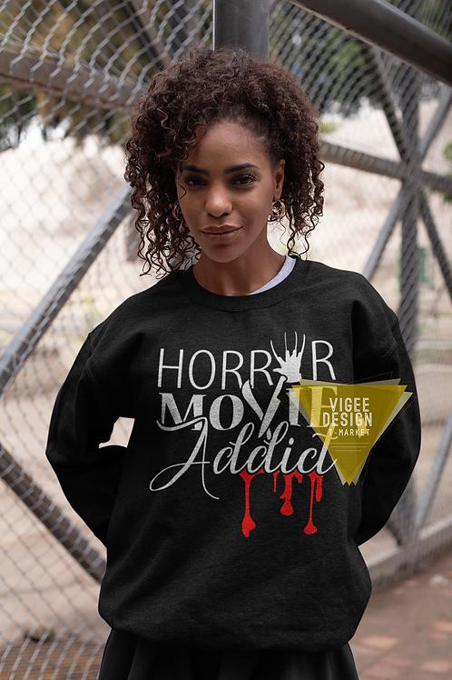 Horror Movie Addict - Unisex fleece sweatshirt