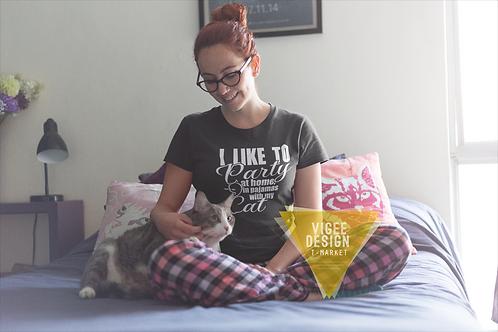 Like to Party Cat - Short-Sleeve Unisex T-Shirt