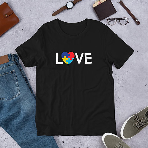 LOVE Autism - Short-Sleeve Unisex T-Shirt
