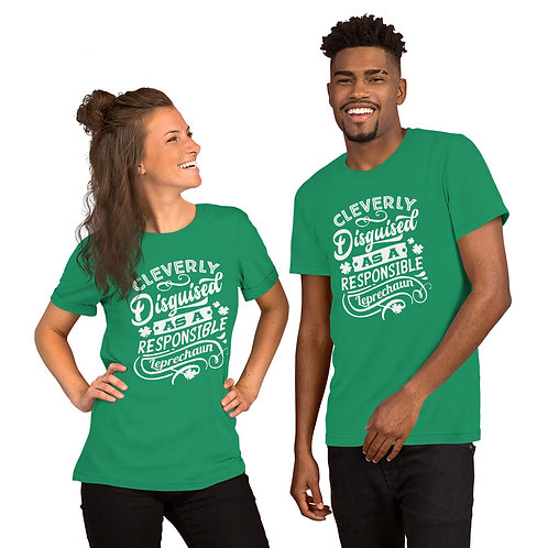 Responsible leprechaun - Short-Sleeve Unisex T-Shirt