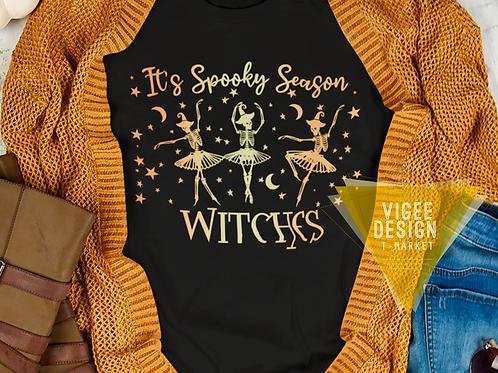 It's Spooky Season Ballet Witches - Short-Sleeve Unisex T-Shirt