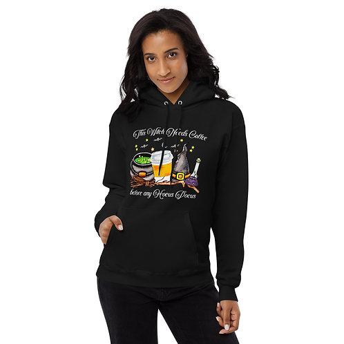 This Witch Needs Coffee - Unisex fleece hoodie