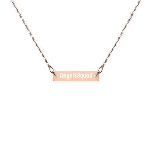AngelsSquad Engraved Bar Chain Necklace