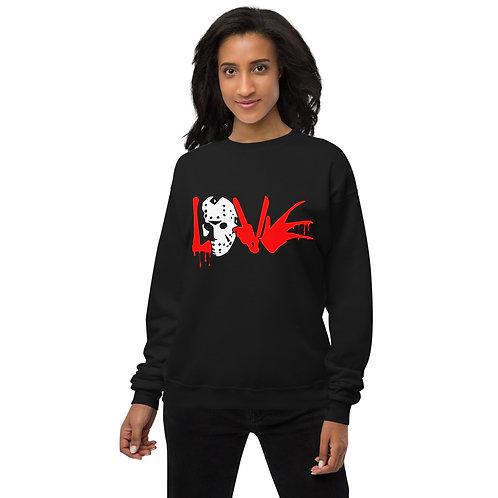Horror Love - Basic Unisex fleece sweatshirt