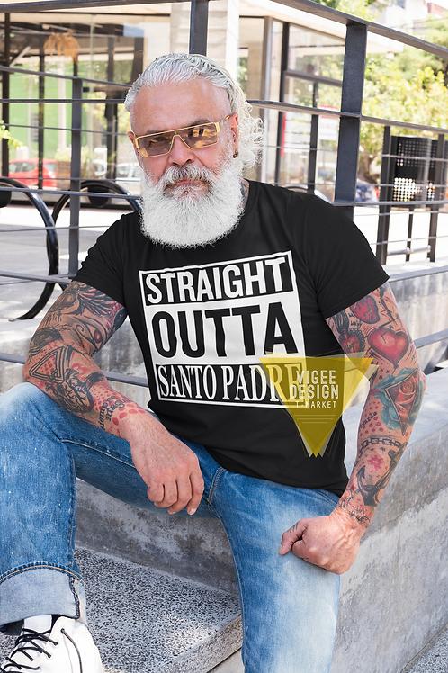 Straight outta Santo Padre - Short-Sleeve Unisex T-Shirt