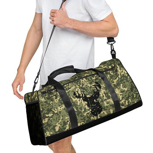Green Camo Deer Grunge - Duffle bag one of a kind