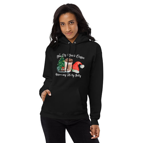 This Elf Needs Coffee Before any Holly Jolly - Unisex fleece hoodie