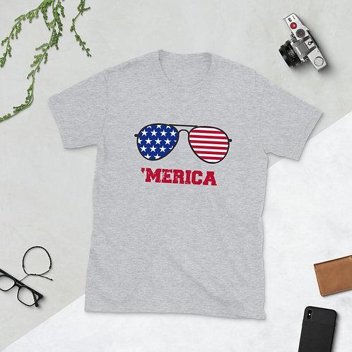 sunglasses 'Merica - Short-Sleeve Unisex T-Shirt