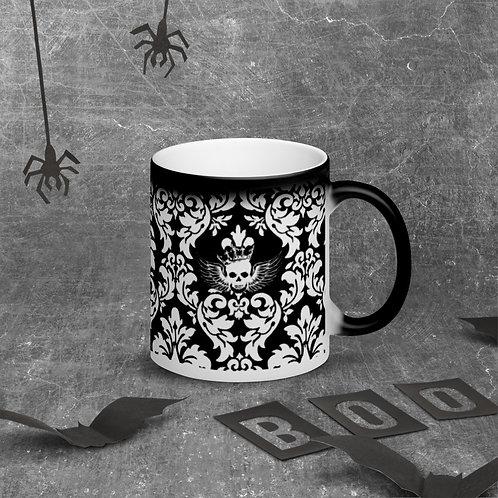 Angel King - Matte Black Magic Mug