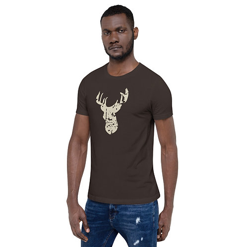 Deer Grunge - Short-Sleeve Unisex T-Shirt
