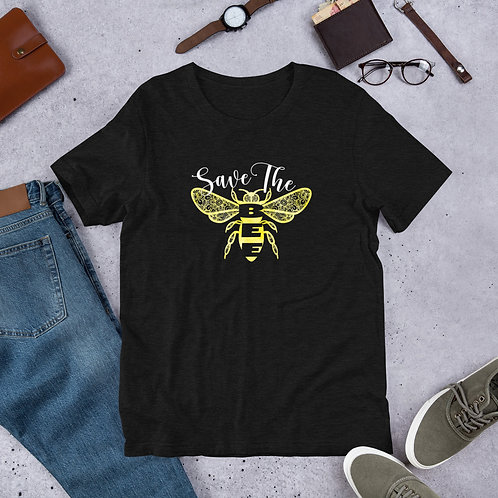 Save the Bee Zentangle - Short-Sleeve Unisex T-Shirt