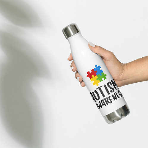 Autism Awarness - Stainless Steel Water Bottle