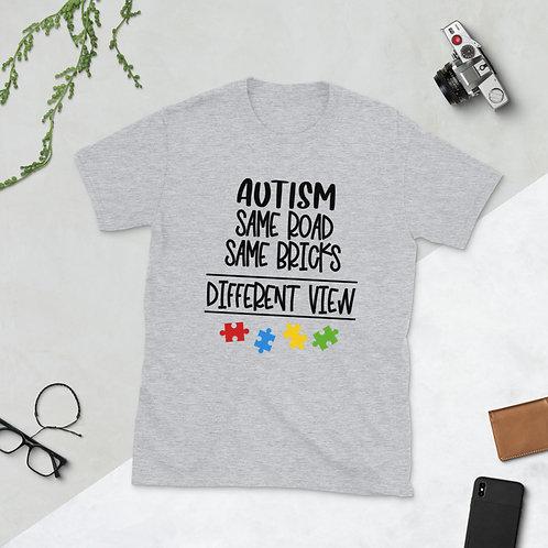 Autism Same Road - Short-Sleeve Unisex T-Shirt