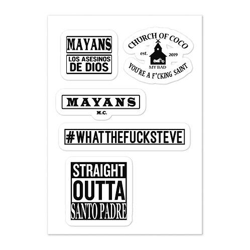 Mayans Sticker sheet